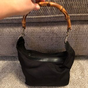 Authentic Gucci Tote Bag with Bamboo Handle
